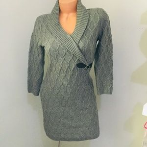 Calvin Klein Gray Sweater Dress Size Small